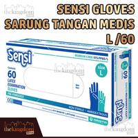 Sensi Gloves Sarung Tangan Medis Karet Latex Glove Disposable L /60