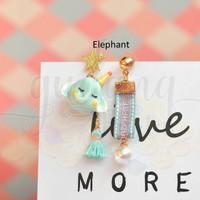 Anting Stud Gajah Kelinci Rusa Lucu Elephant Rabbit Unik GH 203420