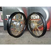 Sepaket Velg TDR Ring 14 Tromol VND Beat Scoopy Vario 125 150 Spacy