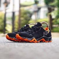 sepatu Adidas ax2 for man black red orange grey