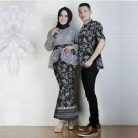 CP ANNISA Baju Couple Kebaya Brukat Batik Rok Duyung Kemeja