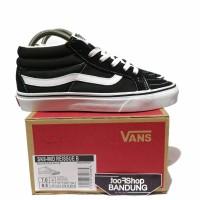 Sepatu Vans SK8 Mid Reissue Black White 36 - 44 UA Mirror BNIB