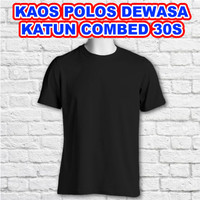 Kaos Polos Dewasa (Katun Combat 30s)