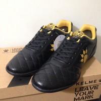 Ori Sepatu Futsal Kelme Power Grip Black Gold 1102091 Original BNIB