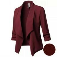 Baju Atasan Wanita Balzer Wanita Blazer Kayla Maroon Tafj.142