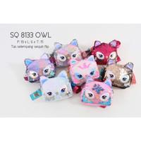 Owl Sequin Flip Justice Bag Tas Selempang Anak Borci Sling Bag pesta
