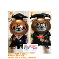 Balon Foil Graduation Bear / Balon Foil Wisuda Beruang Medium Size