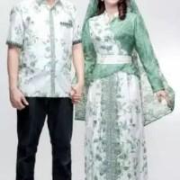 Jual Baju couple gamis wanita muslimah batik terbaru seragam keluarga