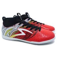 Sepatu Futsal Specs Heritage IN Emperor Red-Gold-White