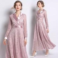 premium baju long dress sifon bridal pengantin gown maxi dress vintage