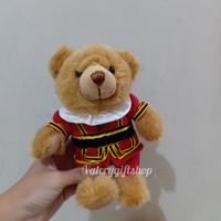 Eksport - Boneka Binatang Animal Teddy Bear Beruang Baju Inggris 18cm