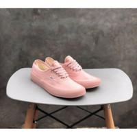 Sepatu Vans Authentic women mono pink rossy black white premium bnib