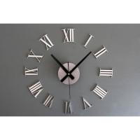 DIY Giant Wall Clock 30-60cm Diameter - ELET00662 / Jam Dinding - Sil