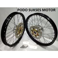 Sepaket Velg Tdr Satria Fu Honda sonic 150r ring 17 140 160