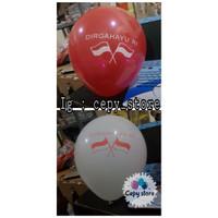 Balon Latex Merah Putih DIRGAHAYU RI/ Balon 17 Agustus Perpack Isi 100 - Putih