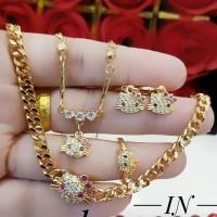 xuping set perhiasan anak lapis emas 24k 254a