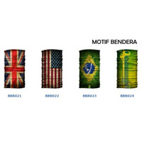 Masker Baff Bandana Bendera Indonesia Amerika Palestina Eropa Flag New