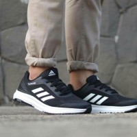 Adidas Climacool Black White Running Shoes For Man/Sepatu Lari Cowok