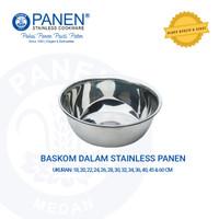 Baskom Stainless, Wadah Stainless 30 cm   Merk Panen