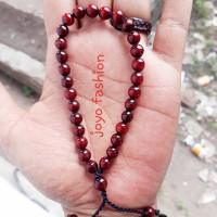 Gelang tasbih kalung akar bahar merah delima