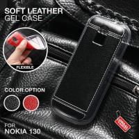 Soft Leather Gel Case Nokia 130 2017 Neo Softcase Silikon Casing Cover