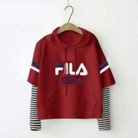 Kado Pacar Cewek Ultah Unik / Sweater Fila Casual Baju Hadiah Remaja