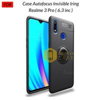 Case Realme 3 Pro Autofocus Invisible Iring Soft Case - Biru