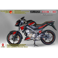 Decal Motor Sticker Motor Yamaha Vixion Advance Merah