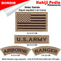 Army Gurun Emblem Bordir Patch Bordir Badge Usa