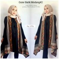 Batik modang outer. Outer wanita. vest batik katun by mRg