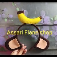 Bando karakter telinga kuping monyet pisang kera monkey banana kostum
