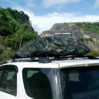 Cover bagasi atas mobil roof rack cros bar