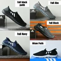 Sepatu Adidas Jawpaw Slip On Grade Ori Sport Outdoor Full Black Hitam