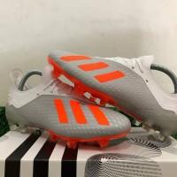 Sepatu Bola Adidas X 18.1 Silver Metallic Orange FG