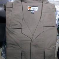 baju dan celana PDL jatah polisi pembagian terbaru bahan kotak polri
