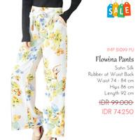 Celana Kulot Panjang Wanita Motif Bunga SALE - Flowina Pants