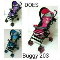 Terbaru Kereta Dorong Bayi Stroller Babydoes Buggy 203