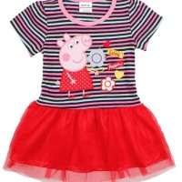 HOT SALE baju peppa dress peppa pig rok tutu peppa pig 18m-2-3y