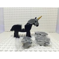 Lego Animal Aksesoris Helm Kuda Unicorn, Gold horn