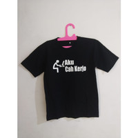 Baju Kaos Tshirt Aku Cah Kerjo Jawa Keren Murah 0626