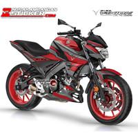 Decal Motor Sticker Motor Yamaha Vixion R Grafis Merah