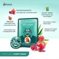 Hanasui animal SHEET mask Dragon - Anti Aging MASKER WAJAH NAGA
