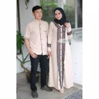 Baju Couple Fashion Dress Copel Modern Cp Kirana Cream High Quality