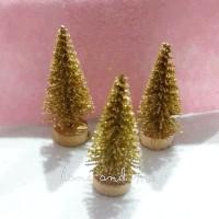 Pohon Natal Mini Maket Cemara - Emas