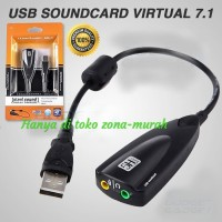 Sound Card USB Virtual 7.1 Channel / Audio Mic Soundcard USB - 5Hv2