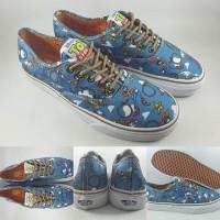 Sepatu Kets Vans Authentic X Toy Story Woody Navy Blue Brown
