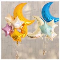 Balon Foil Bulan Sabit Moon