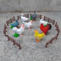 Mainan Set Animal Unggas Karet Edukatif Binatang Anak Hewan Ternak
