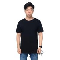 Kaos Oblong Combat 30's BASICQU Hitam / Atasan Pria / T-shirt Polos