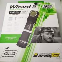 Wizard Pro XHP50 USB Magnet max 2300 Lumen (cahaya putih)